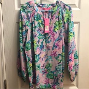 NWT Lilly Pulitzer Elsa Top Mermaid in the Shade